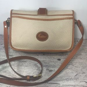 Dooney Crossbody Cream Tan Pebble Leather